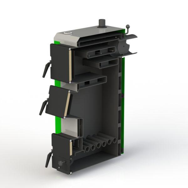 Фото - 3 Котел твердотопливный KOTLANT серии KO-14-3Д с автоматикой и вентилятором