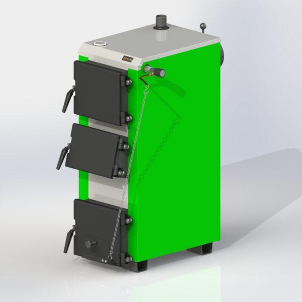 Фото - 2 Котел твердотопливный KOTLANT серии KO-16-3Д с механическим регулятором