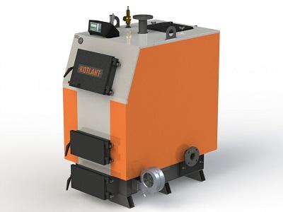 Фото - 2 Котел твердотопливный KOTLANT серии КВ-65 с автоматикой и вентилятором